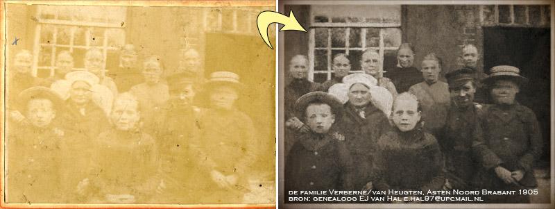 oude foto repareren
